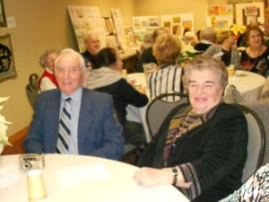 Image of Senior Party Holiday smiles at B'nai B'rith's Covenant House Communities in 2012.