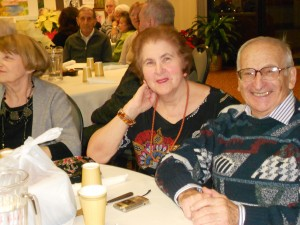 Image of Senior Dance Party Holiday smiles & friends at B'nai B'rith's Covenant House Communities in 2012.