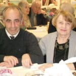 Image of Reconnecting at the Holiday Senior Dance Party at B'nai B'rith's Covenant House Communities in 2012.