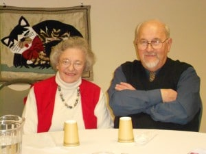 Image of Holiday joy at the Senior Holiday Dance Party at B'nai B'rith's Covenant House Communities in 2012.