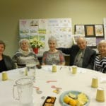 Image of people at a table of attendees at B'nai B'rith's Covenant House Communities 2012 Holiday party