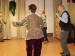Image of Dancers at B'nai B'rith's Covenant House Communities 2012 Holiday party.