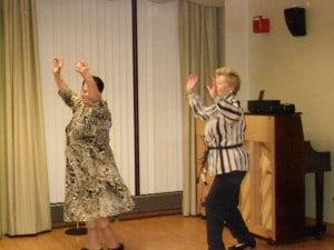 Seniors at B'nai B'rith's Covenant House Communities celebrating at a party in 2012.
