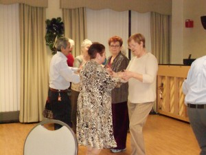 Image of Senior Group Dance Party Holiday from B'nai B'rith's Covenant House Communities in 2012.