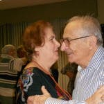 Image of Senior Dance Party Holiday smiles from B'nai B'rith's Covenant House Communities in 2012.