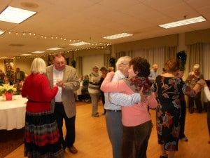 Image of Senior Holiday Dance at B'nai B'rith's Covenant House Communities in 2012.