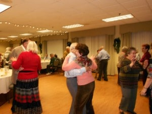 Image of Dancing at the holidays at B'nai B'rith's Covenant House Communities in 2012.