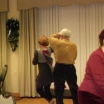 Image of B'nai B'rith Housing's Covenant House Communities residents celebrate.