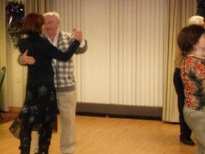 Image of holiday dance party dancing at B'nai B'rith's Covenant House Communities in 2012.