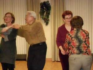 Image of holiday party dancing at B'nai B'rith's Covenant House Communities in 2012.