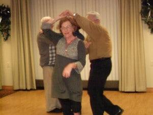 Image of 2012 Holiday party dancing at B'nai B'rith's Covenant House Communities.