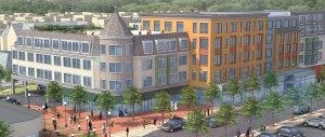 Image of Austin Street Development in Newton from B'nai B'rith Housing.