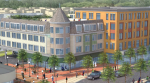 Image of Austin Street Development in Newton artist rendering from B'nai B'rith Housing.