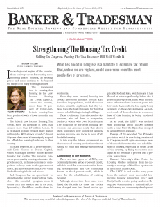 Strengthening The Housing Tax Credit