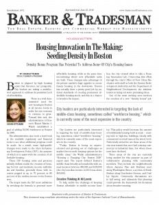 Housing Innovation In The Making: Seeding Density In Boston