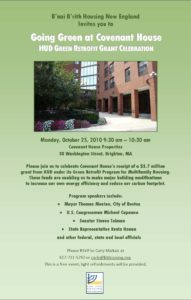 B'nai B'rith Housing Celebrates Green Grant