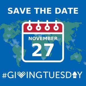 #GivingTuesday is Coming November 27, 2018!