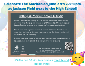 Join us in Swampscott on Sunday June 27th for a Celebration of The Machon!